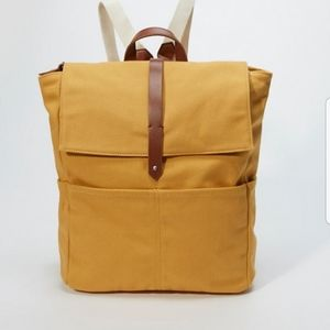 Abercrombie Fitch Canvas Backpack Mustard Yellow